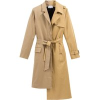 Mid-Length Trench Coat in Cotton