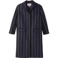 Parallele Striped Wool Blend  Coat