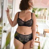 Lace and Microfibre Full Cup Bra