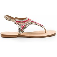Ijane Flat Beaded Leather Sandals