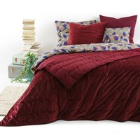 PETIPON Embroidered Quilted Velvet Bedspread