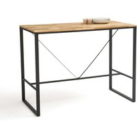 LA REDOUTE INTERIEURS Hiba High Bar Table in Oak & Metal (Seats 4-6)
