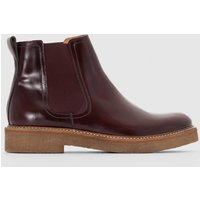 Stivali bordò donna Boots in pelle Oxfordchic