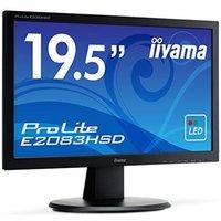 Ecran PC iiyama Prolite E2083HSD-B1 20 LED, 1600x900, 5 ms VGA et DVI noir