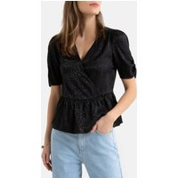 shop for Short-Sleeved Wrapover Blouse at Shopo