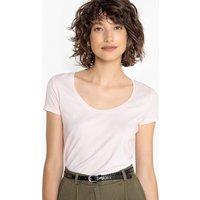 T-shirt bianco;rosa;Nero donna T-shirt basica scollo rotondo