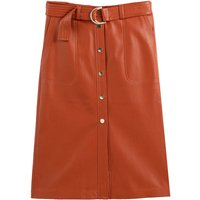 shop for Faux Leather Straight Skirt at Shopo
