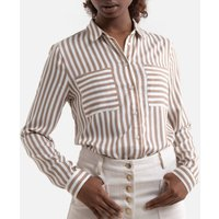 Striped Cotton Blouse in Regular Fit.