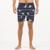 Villata Floral Print Boardshorts, Navy blue