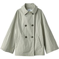 Short Trenchcoat with Batwing Sleeves