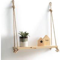Mareo Pine & Rope Hanging Wall Shelf.