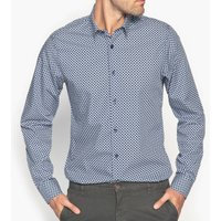 Pure Cotton Printed Slim-Fit Shirt