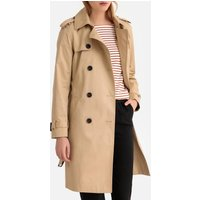 Long Cotton Trench Coat with Pockets