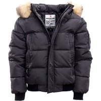 Padded Jacket with Faux Fur Trim Hood, 10-16 Years