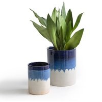 Set of 2 Tapiwa Tie Dye Ceramic Planters