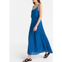 shop for Maxi Pleated Dress with Shoestring Straps at Shopo