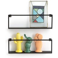 Set of 2 Hiba Metal Wall Shelves, L50cm