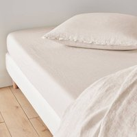 Washed Linen Plain Fitted Sheet