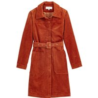 Corduroy Trench Coat with Belt and Pockets