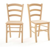 Perrine Set of 2 Slatted Dining Chairs