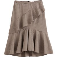 shop for Ruffled Tiered Checked Skirt at Shopo