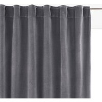 Velvet Single Hidden Tab Curtain.