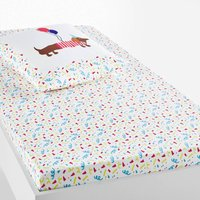 Doggy Fitted Sheet in Printed Organic Cotton