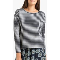Thais Striped Cotton T-Shirt with Long Sleeves.