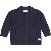 Cotton Zip-Up Cardigan in Garter Stitch Knit, 1 Month-3 Years