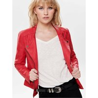 Cropped Faux Suede Biker Jacket with Pockets