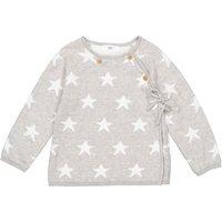 Cotton Star Print Wrapover Cardigan, Prem-2 Years