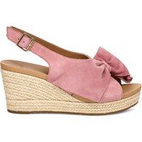 Camilla Leather Wedge Sandals