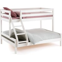 Meeting Triple Sleeper Pine Bunk Bed with Bases