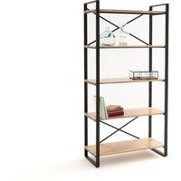 Hiba Solid Oak and Steel Shelf