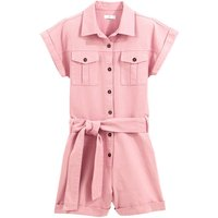 shop for Cotton Utility Playsuit with Tie Belt at Shopo