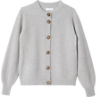 Recycled Cashmere/Wool Cardigan with Crew-Neck