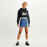Ribcage Denim Mini Skirt
