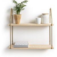 Vinto Double Wall Shelf in Pine & Metal