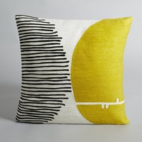 Mihnéa Embroidered Cotton Cushion Cover