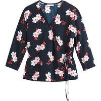 shop for Floral Print Wrapover Blouse at Shopo