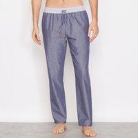 Pigiami blu chambray uomo Pantaloni pigiama Cotone