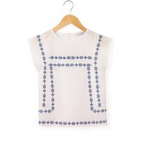 Folk Style Embroidered Blouse, 3-12 Years