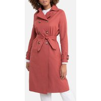 Double-Breasted Trench Coat with Pockets