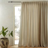 Colin Pure Linen Cotton Lined Curtain with Flemish Pleats
