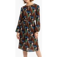 shop for Knee-Length Tribal Print Dress with Long Sleeves at Shopo