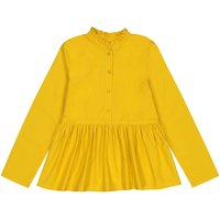'Cotton Mandarin-collar Blouse With Long Sleeves, 3-14 Years