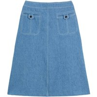 Denim Mid-Length Skirt
