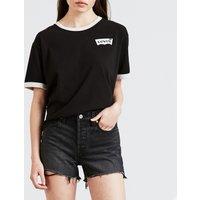 T-shirt Nero donna T-shirt LEVIS GRAPHIC RINGER JV TEE