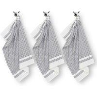 Freesia Geometric-Patterned Tea Towels (Set of 3)