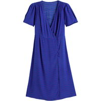 Printed Wrapover Dress with Short Sleeves
